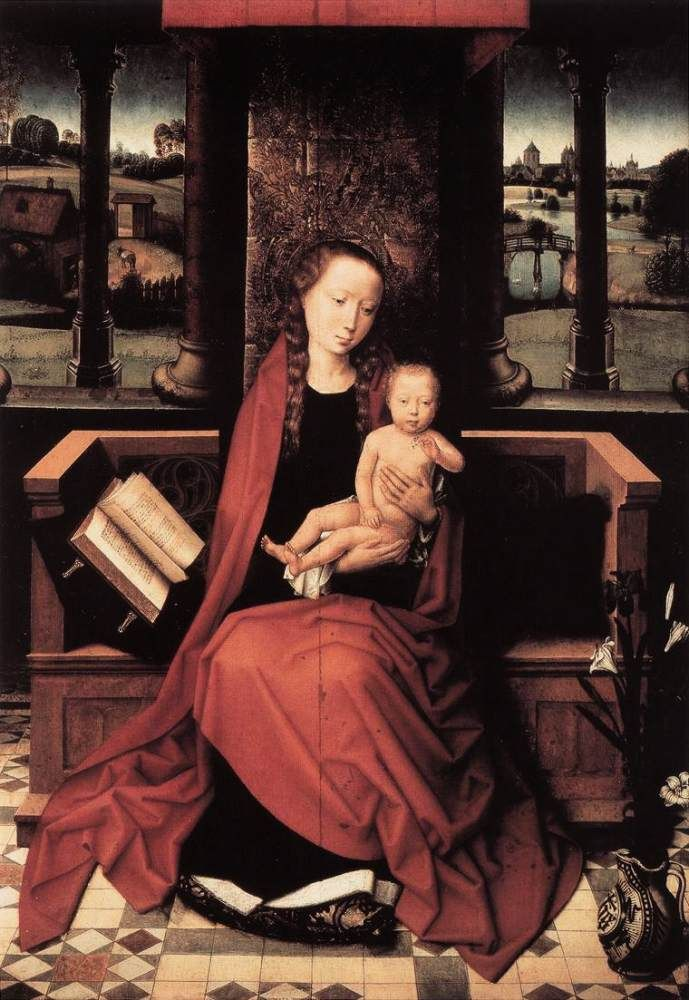 Virgin and Child Enthroned by Hans Memling