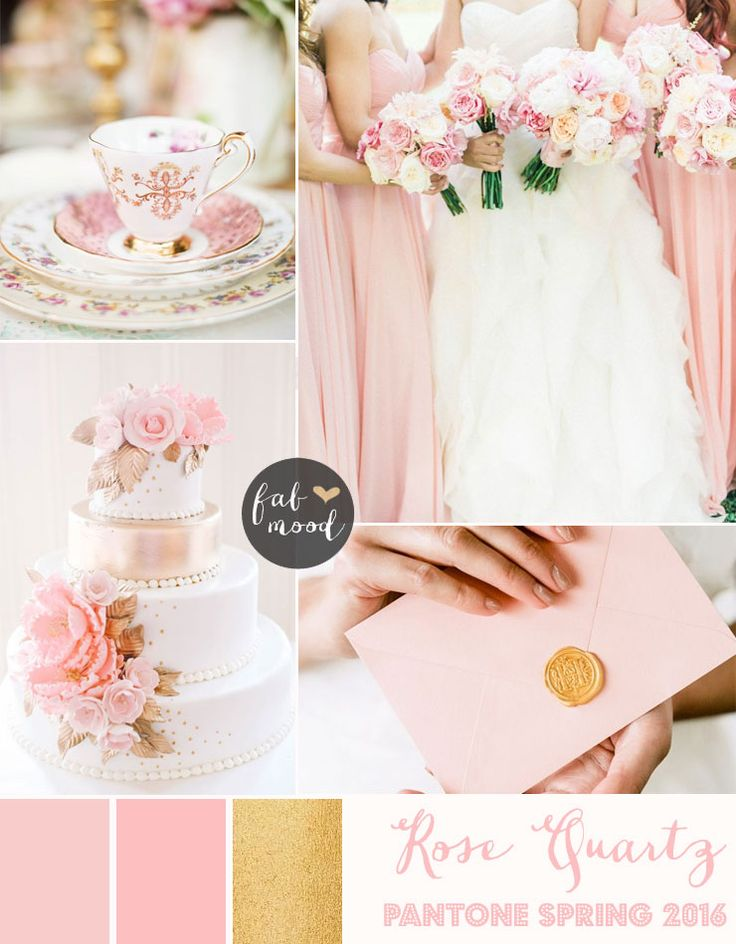 Rose Quartz Wedding Pantone Spring 2016 : http://www.fabmood.com/rose-quartz-wedding-theme #pinkwedding: