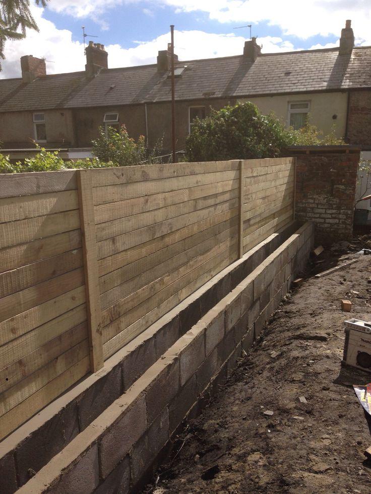 Fencing for modern landscape (progress pic)