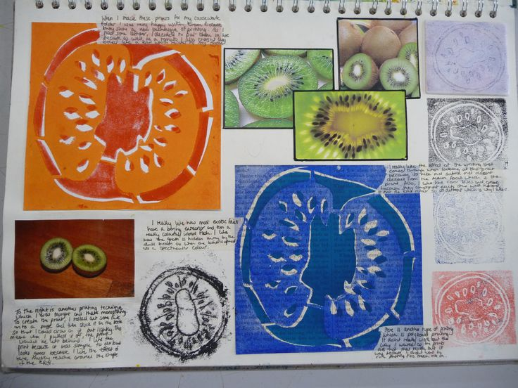 Food - sketchbook exemplar work