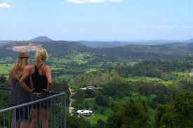 Spectacular sweeping views at Dulong Lookout on the Montville/Maleny Hinterland tour.