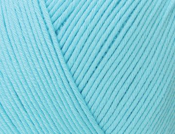 Yarn aquamarine blue Essentials Cotton DK Rico Design knitting crochet mercerised with a sheen 50 g 130m needle size 3-4 mm colour code 31 by PurpleValleyYarn on Etsy