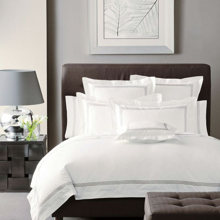 Silver White Pembroke Quilt Cover Set | More Sizes Available by Linen House Boutique on THEHOME.COM.AU