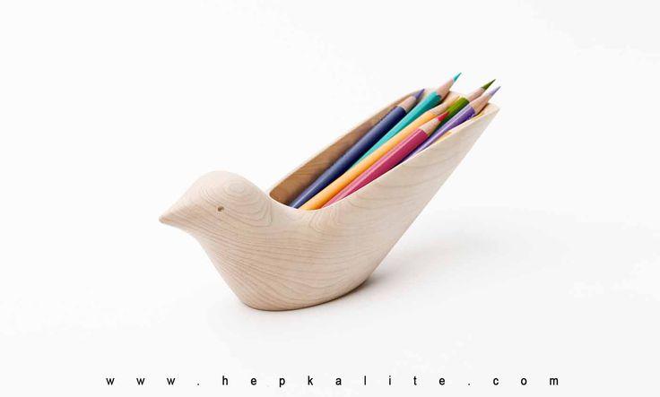 Sevimli Kuş Kalemlik BKID Tropikal Bird Ahşap Dekoratif Kuş Şeklinde Kalemlik, Ahşap kalemlik Modeli ile üretilen kalemlik modelleri ofis masası kalemleri