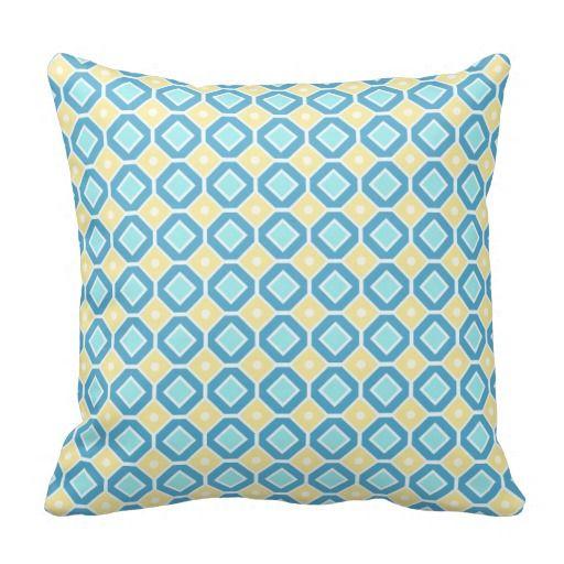 Almohada decorativa del modelo geométrico amarillo