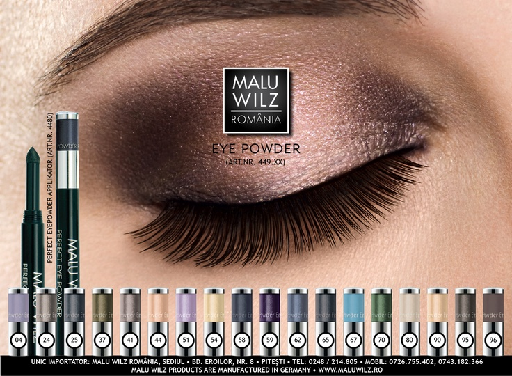 EYEPOWDERs are available at MALU WILZ ROMANIA! MALU WILZ Products are manufactured in Germany! www.maluwilz.ro