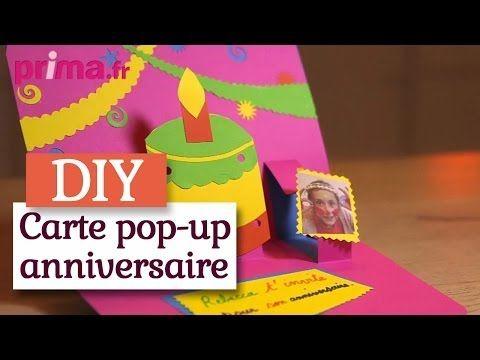 Faire une carte d'invitation pop-up pour un anniversaire - Tutoriel DIY - You…   Carte ...