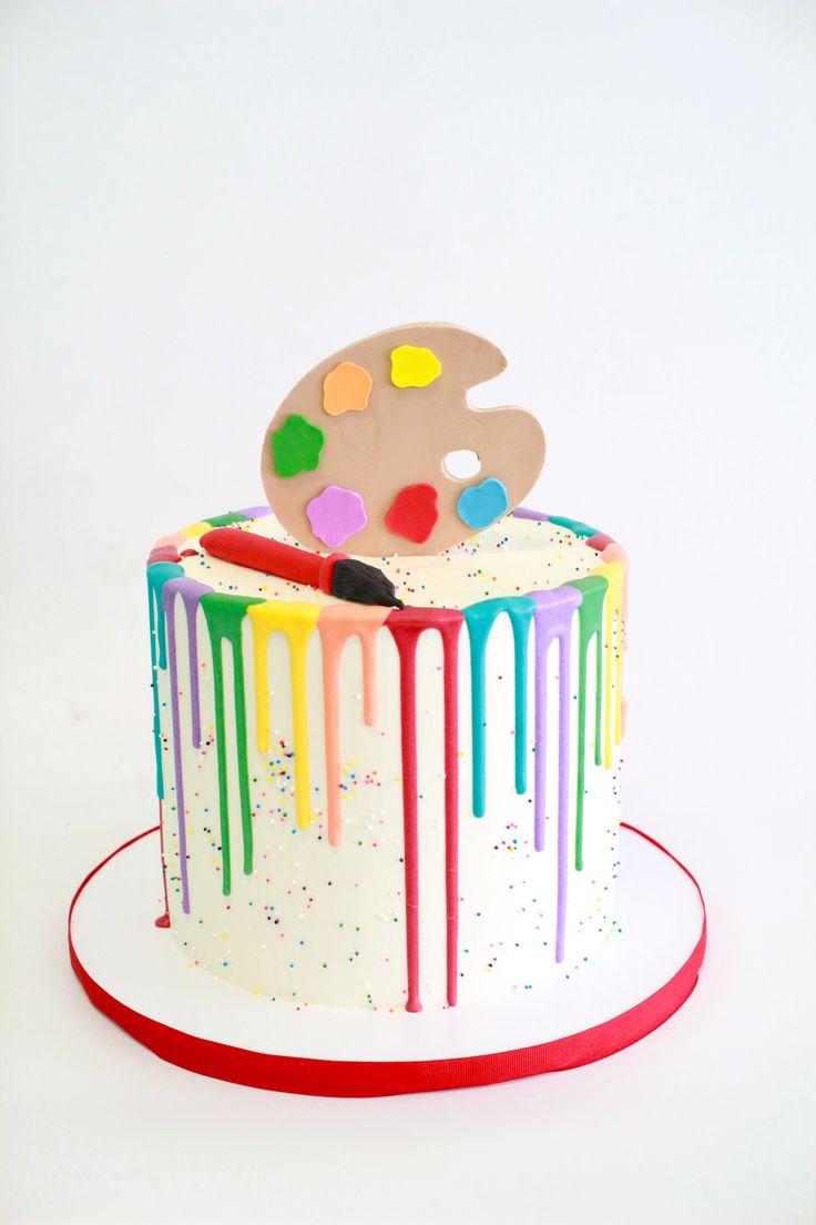 Paint Cake by Cake Bash Studio & Bakery Lake Balboa, CA