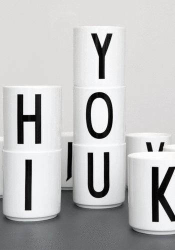 Arne Jacobsen Design Letter Porcelain cup