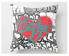 Love pillow @ LeonLionStudio $32 Available in three sizes - new design 2015!