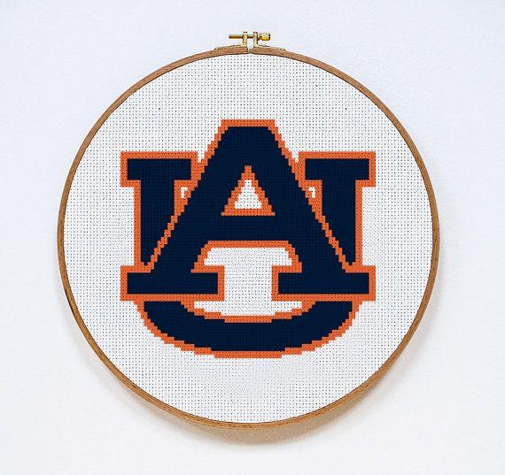 60 best sports cross stitch patterns images on pinterest dots auburn university tigers logo cross stitch pattern pdf download fandeluxe Gallery