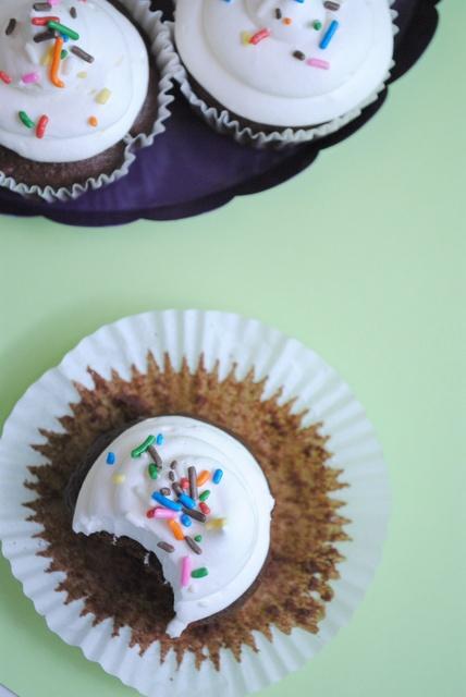 Skinny} Frozen Hot Chocolate Cupcakes @April Cobb