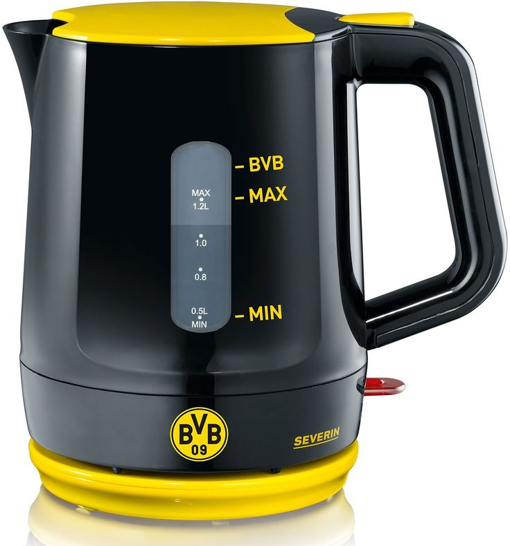Severin Wasserkocher WK 9742, Borussia Dortmund Fanartikel 1,2 Liter, 1500 Watt, schwarz gelb, schwarz #BVB #Fanartikel #borussiaDortmund