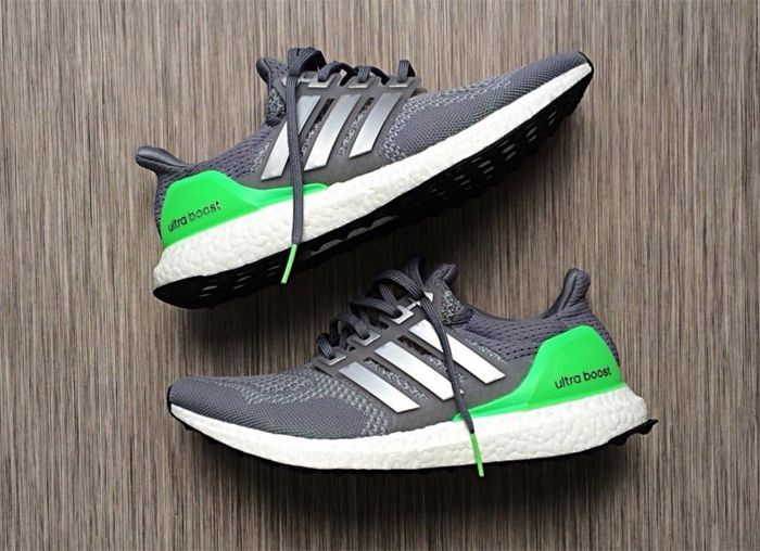 Check out this clean looking adidas Ultra Boost Super Green Sample.