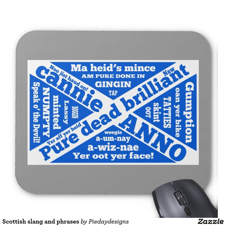 Scottish slang and phrases mouse pad