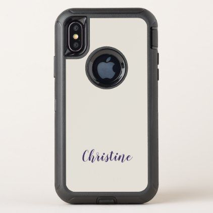 Ultra Violet Name Pastel Lilac Trendy Typography OtterBox Defender iPhone X Case - script gifts template templates diy customize personalize special