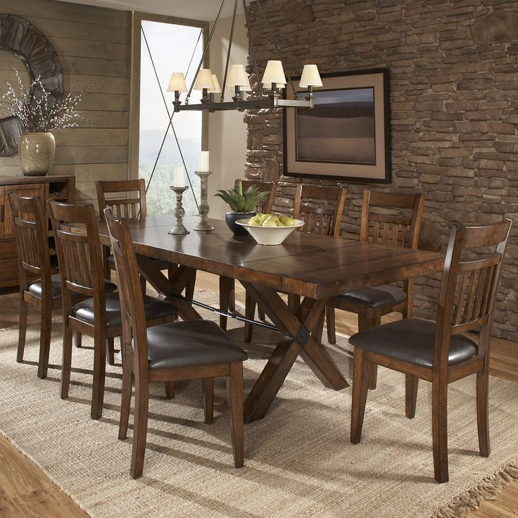 Tribecca Home Inverness Warm Oak Turnbuckle Extending Dining Table Ping Great Deals