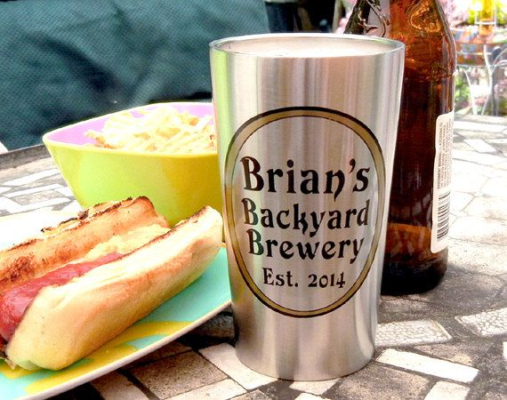 Custom Stainless Steel Beer Tumbler, Personalized Beer Gift   Insulated  Beer Cup For Deck, Patio, Bar U0026 Grill, Pool, BBQ   Eco Friendly