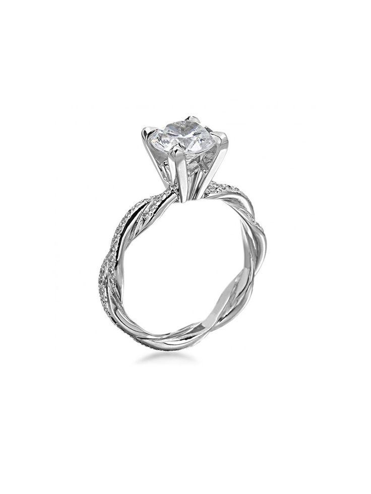 Michael B. Platinum Diamond Infinity Braid Semi Mount