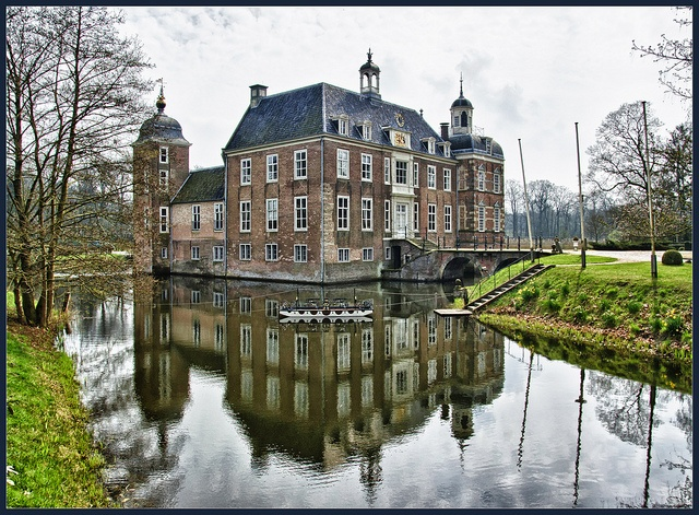 I was born in Terborg, Gelderland, the Netherlands.  It is typical to see old castle homes once in a while still standing today! This picture was taken in the Province of Gelderland.  Lots of history!
