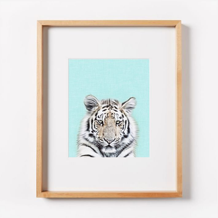 Instant Download Nursery Tiger - Turquoise Background