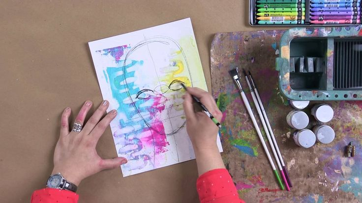 In this video, Dina Wakley will teach you how to draw her style of artistic faces for your art journal using techniques from her book, Art Journal Courage! L...