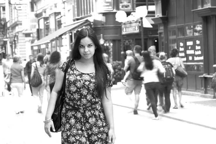 Budapest Váci Street. Modell: Berill