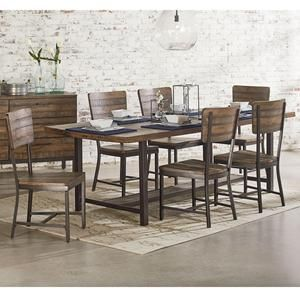 Drastically Change Your Dining Room With The Addition Of This Magnolia Home Industrial Framework Set Includes 1 Table And 6 Chairs