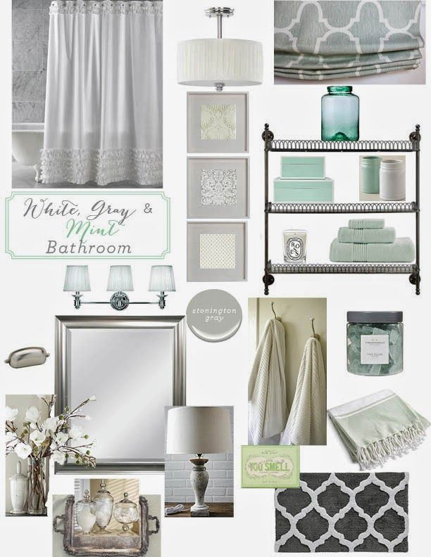 12th and White: Guest Bath Inspiration {Gray, White & Mint Bathroom}