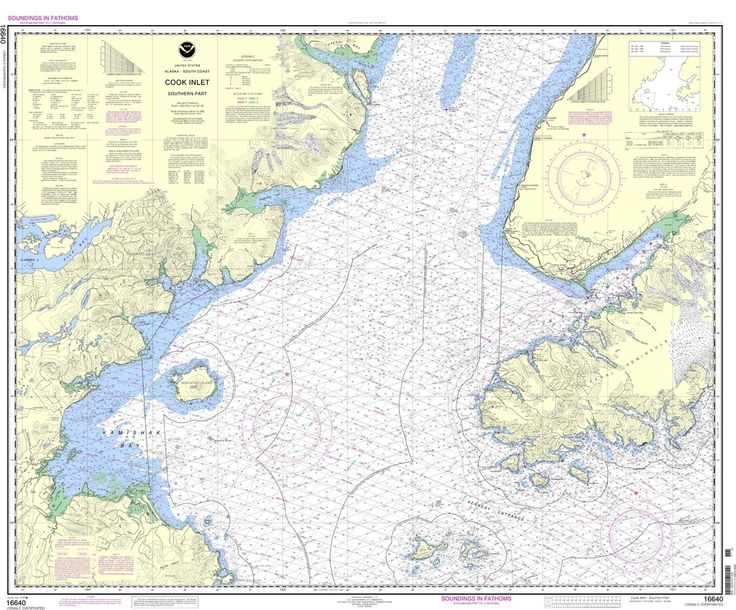 Noaa Nautical Chart 16640 Cook Inlet Southern Part