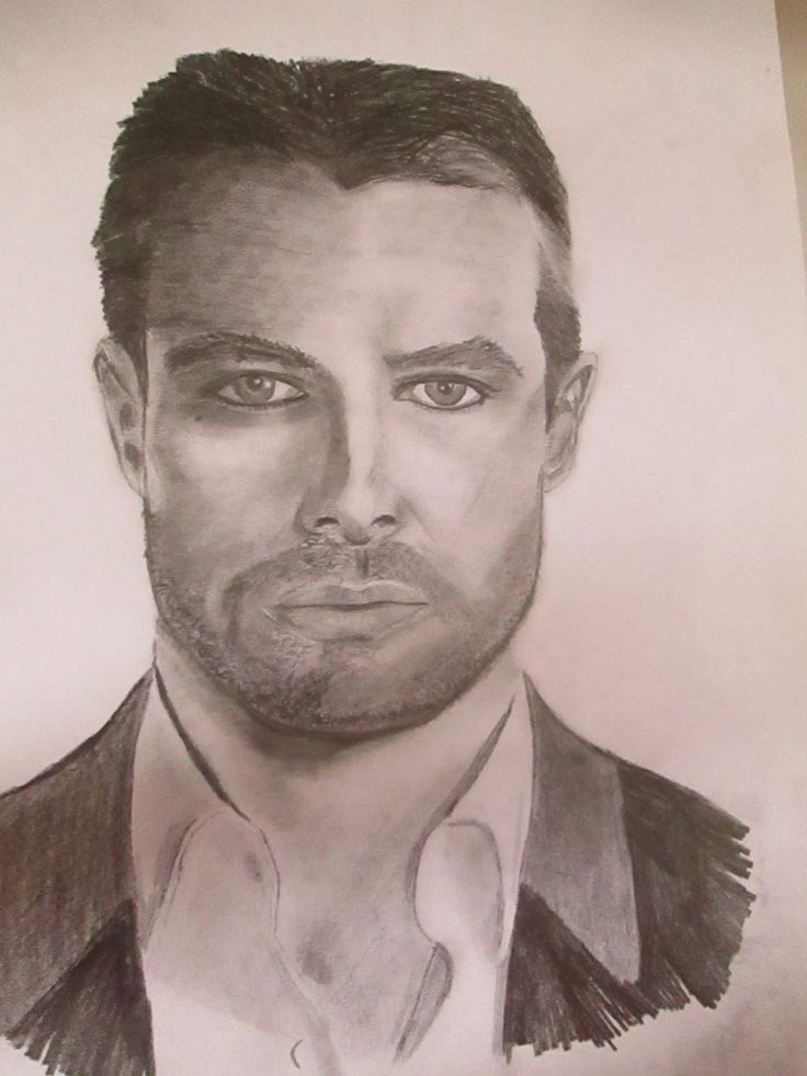 Original Pencil drawing of Stephen Amell as Oliver Queen by CraftyShutterbug on…