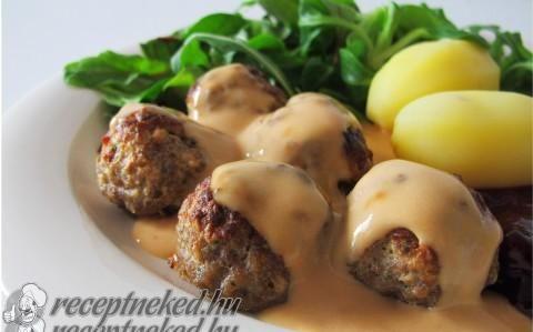 Svéd húsgolyók recept fotóval