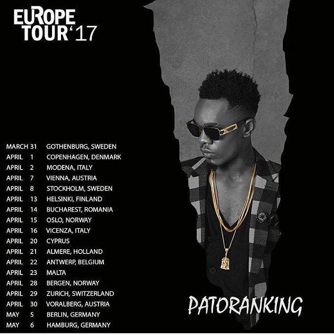 Patoranking Europe Tour '17  #AfroDancehall #afropop #GodOverEverything #GOE #Patoranking #Patoranking