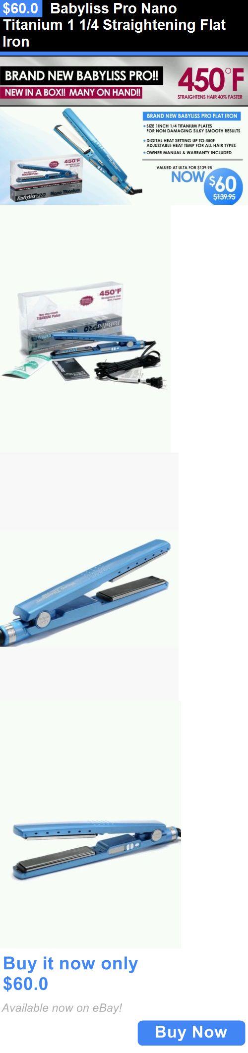 Hair Beauty: Babyliss Pro Nano Titanium 1 1/4 Straightening Flat Iron BUY IT NOW ONLY: $60.0