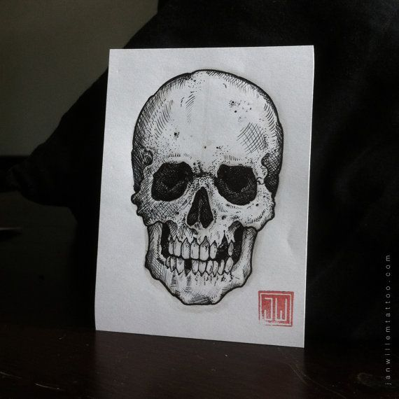 Skull study by Janwillemtattoo on Etsy