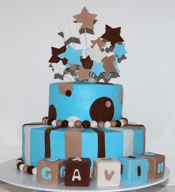 Baby Boy Shower Cake ~NutMeg Confections