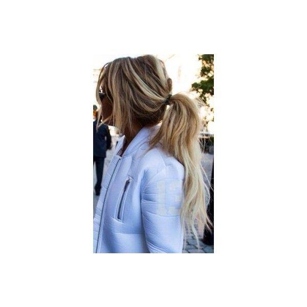 Blonde Paardenstaart via Polyvore featuring hair