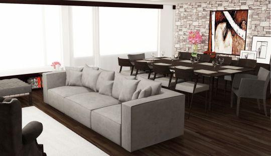Proyecto interiorismo y mobiliario personalizado apartamento Bogotá. Realizado por Gocor Estudio Barcelona