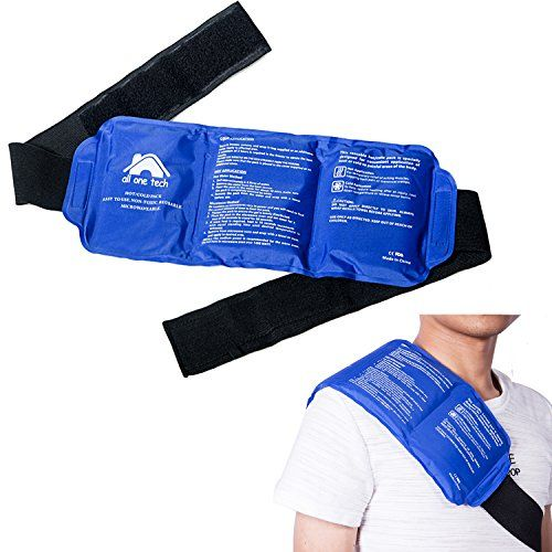 "Pain Relief Ice Pack with Strap for Hot & Cold Therapy - Reusable Gel Pack for Injuries | Best as Heat Wrap or Cold Pack for Back, Waist(Large pack: 14"" X 6""). For product & price info go to:  https://all4hiking.com/products/pain-relief-ice-pack-with-strap-for-hot-cold-therapy-reusable-gel-pack-for-injuries-best-as-heat-wrap-or-cold-pack-for-back-waistlarge-pack-14-x-6/"