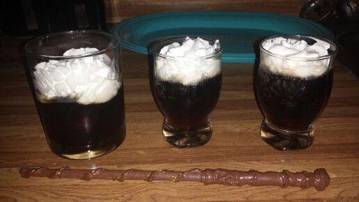 *BUTTERBEER SHOOTERS*  *SHOT OF BUTTERSCOTCH SCHNAPPS *ROOT BEER *WHIP CREAM