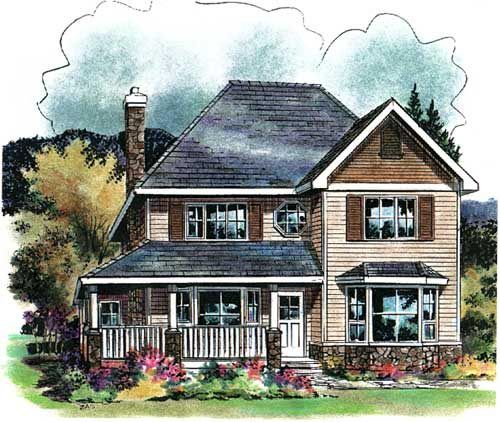 House Plan 58546   Colonial Plan with 1917 Sq. Ft., 4 Bedrooms, 3 Bathrooms