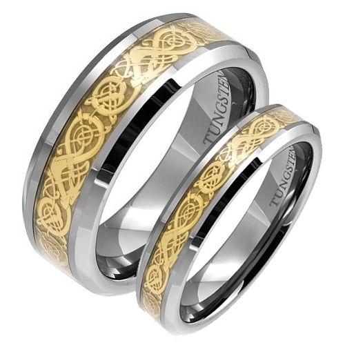 Erstaunlich Passende Trauringe Sein Und Ihr Mit Passendem Ehering Gold Drachen Eingraviert Ringen