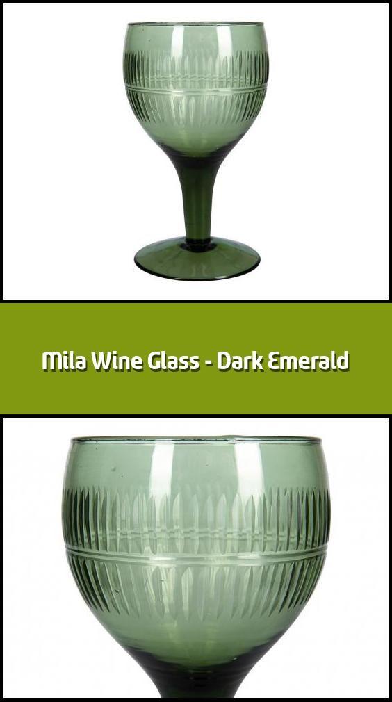 Mila Wine Glass Dark Emerald Wine Glass Material Recycled