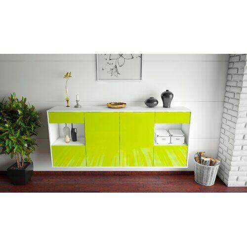 Sideboard Thirsk Brayden Studio Farbe Korpus Front Weiss Matt