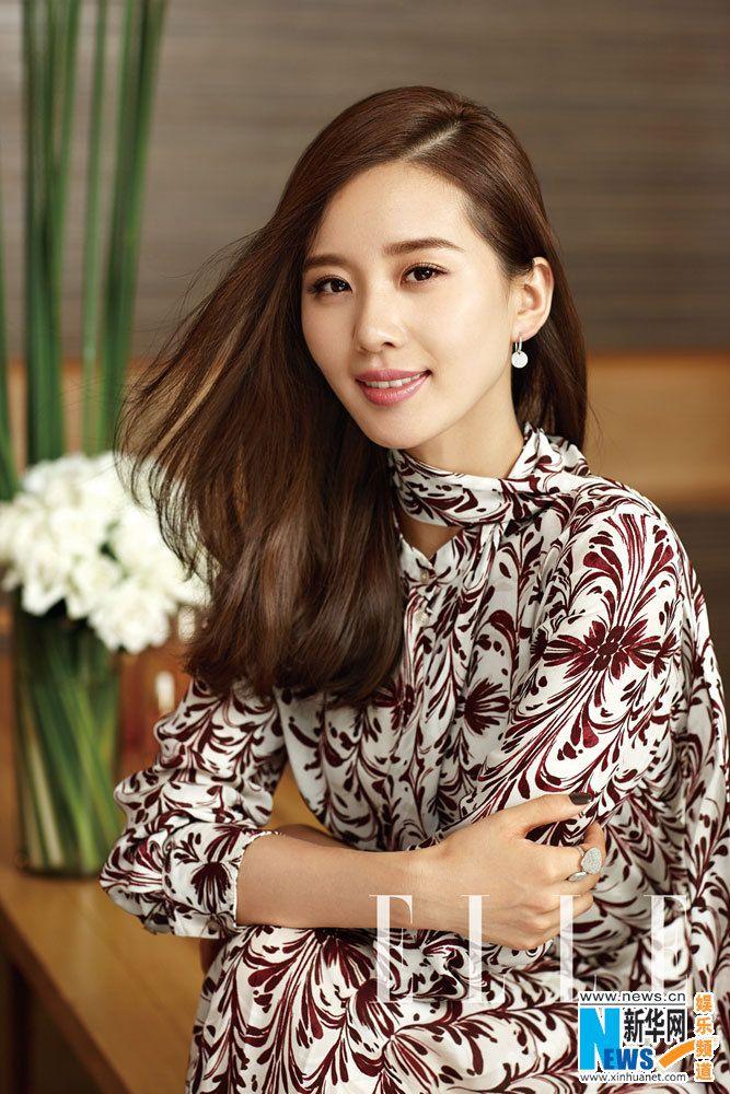 Chinese actress Liu Shishi  http://www.chinaentertainmentnews.com/2015/09/liu-shishi-covers-elle-magazine.html