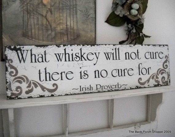 IRISH PROVERB BAR Sign Shabby Cottage Tavern by thebackporchshoppe, $59.95