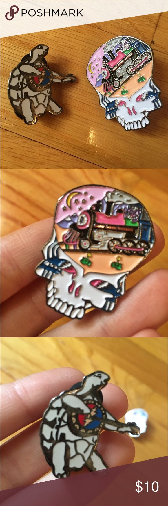 Terrapin / Casey Jones Grateful Dead hat pins Grateful Dead hat pins! Terrapin Traders turtle playing banjo pin / Casey Jones steal your face pin. BOTH for $10. ⚡️ Accessories
