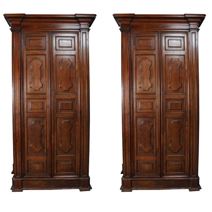 Buy Pair of Grand Italian Wardrobes by Antonio's Bella Casa - Limited Edition designer Furniture from Dering Hall's collection of Traditional Armoires.