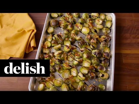 Best Bacon Balsamic Brussels Sprouts - How to Make Bacon Balsamic Brussels Sprouts
