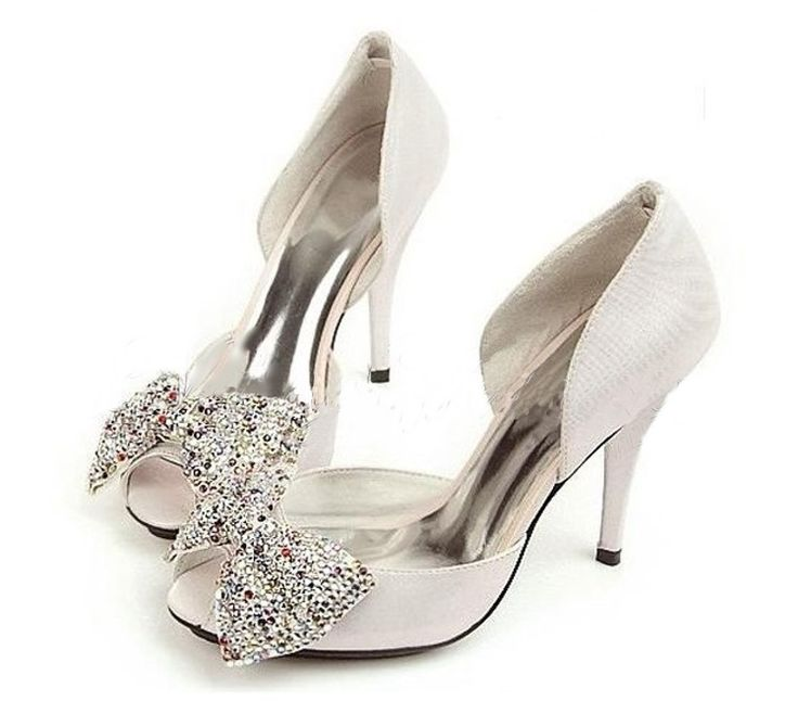 » Bridal Rhinestone Bow Pumps